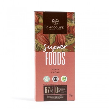 Chocolate 67% Puro Cacau SUPERFOOD (80g) - Chocolife