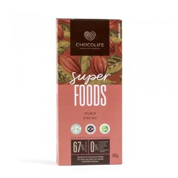 Chocolate 67% Puro Cacau SUPERFOOD (80g) - Chocolife
