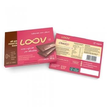 Chocolate Loov Chocolife Ao Leite De Coco 50g - 2 Unidades