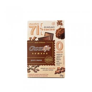Chocolife Senses 71% Cacau Puro Cacau (25g) - Chocolife