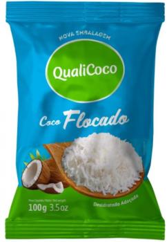 Coco Ralado Flocado (100g) QualiCoco