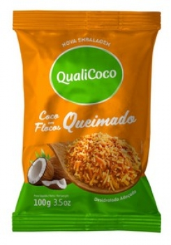 Coco Ralado Queimado (100g) QualiCoco