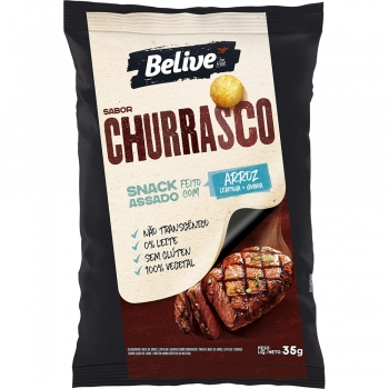 SNACK DE ARROZ SABOR CHURRASCO (35g) - BELIVE