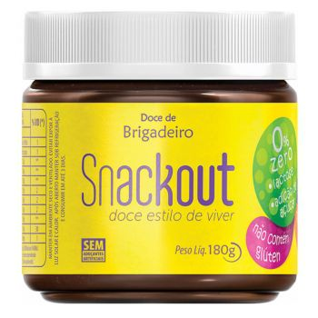 Doce Low Carbo Snackout BRIGADEIRO - 180g