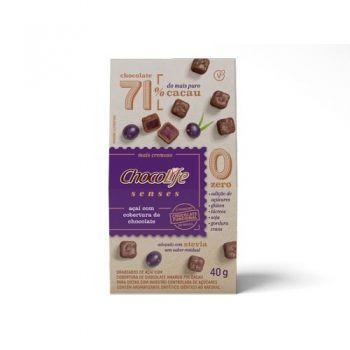 Drageado Senses Açaí Com Cobertura De Chocolate (40g) - Chocolife