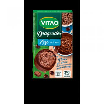 Drageados de Flocos de Arroz Com Chocolate Meio Amargo (30g) - VITAO