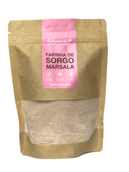 Farinha de Sorgo Marsala (200g) - Bellamêndoa