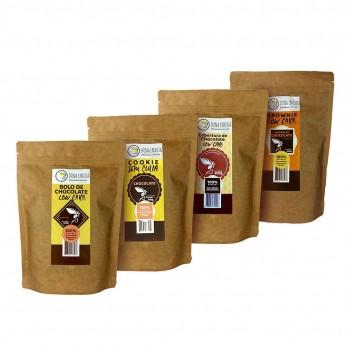 Kit 4 Chocolate Mix Preparo Low Carb - Dona Enxuta