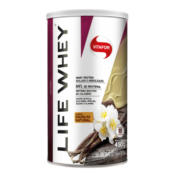Life Whey Baunilha Natural (450g) - VitaFor