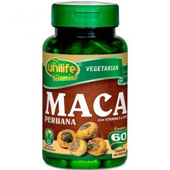 Maca Peruana com Vitamina C e Zinco 60 Cápsulas - Unilife