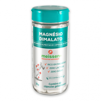 Magnésio Dimalato 500mg 60 Cápsulas - Meissen