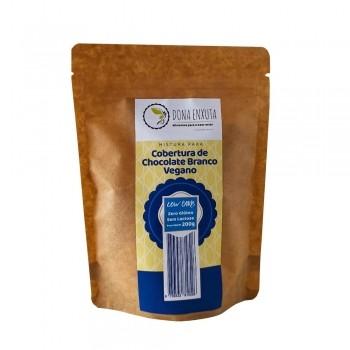Mistura para Cobertura de Chocolate Branco Vegano Low Carb (200g) - Dona Enxuta