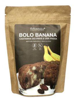 Mix Bolo Banana Castanhas e Passas (200g) - Bellamêndoa