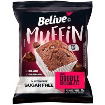 MUFFIN DOUBLE CHOCOLATE SEM AÇÚCAR (40g) - BELIVE