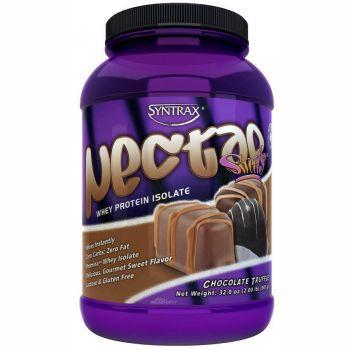Nectar Whey Protein Isolado Natural Chocolate Trufado  ZERO CARBO (907g) - Syntrax