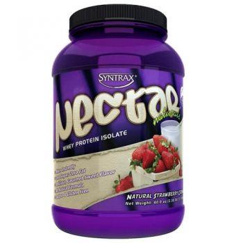Nectar Whey Protein Isolado Strawberry & Cream (Morango)  ZERO CARBO (907g) - Syntrax