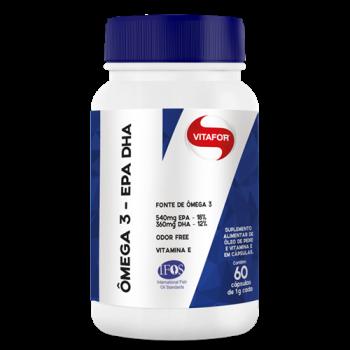 Ômega 3 EPA - DHA (1g 60 cápsulas) - VitaFor