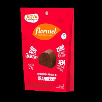 Pacote 5 unidades Bombom Cranberry (75g) - Flormel