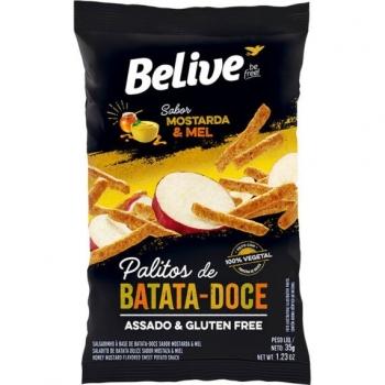 PALITOS DE BATATA-DOCE SABOR MOSTARDA E MEL (35g) - BELIVE