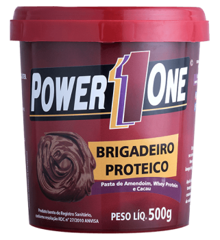 Pasta de Amendoim Brigadeiro Proteico (500g) - Power1one