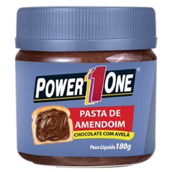 Pasta de Amendoim Chocolate com Avelã (180g) - Power1one