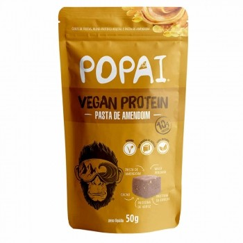 Cubo Proteico Sabor Pasta de Amendoim (50g) - Popai