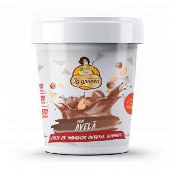 Pasta de Amendoim Integral Gourmet Com Avelã (450g) - La ganexa