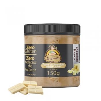 Pasta de Amendoim Integral Gourmet Com Chocolate Branco Crocante (150g) - La ganexa