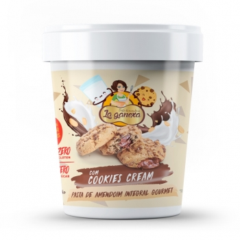 Pasta de Amendoim Integral Gourmet Com Cookies Cream (450g) - La ganexa