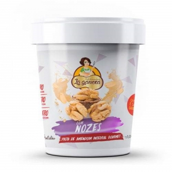 Pasta de Amendoim Integral Gourmet Com Nozes (450g) - La ganexa