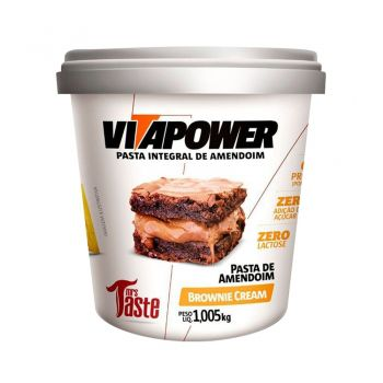 Pasta de Amendoim Sabor Brownie Cream (1,005kg) - VitaPower