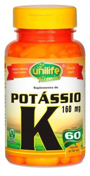 Potássio Vitamina K 60 Cápsulas (560mg) - Unilife