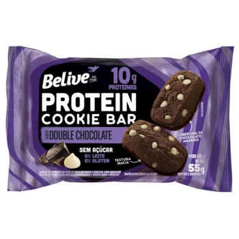 PROTEIN COOKIE BAR SABOR DOUBLE CHOCOLATE (55g) - BELIVE