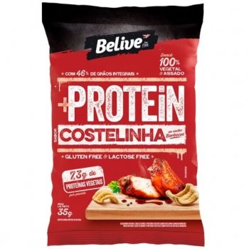 SNACK +PROTEIN SABOR COSTELINHA AO MOLHO BARBECUE (35g) - BELIVE