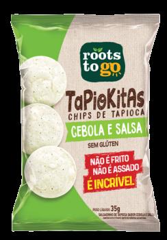 Tapiokitas Sabor Cebola e Salsa - 35g - Roots to go