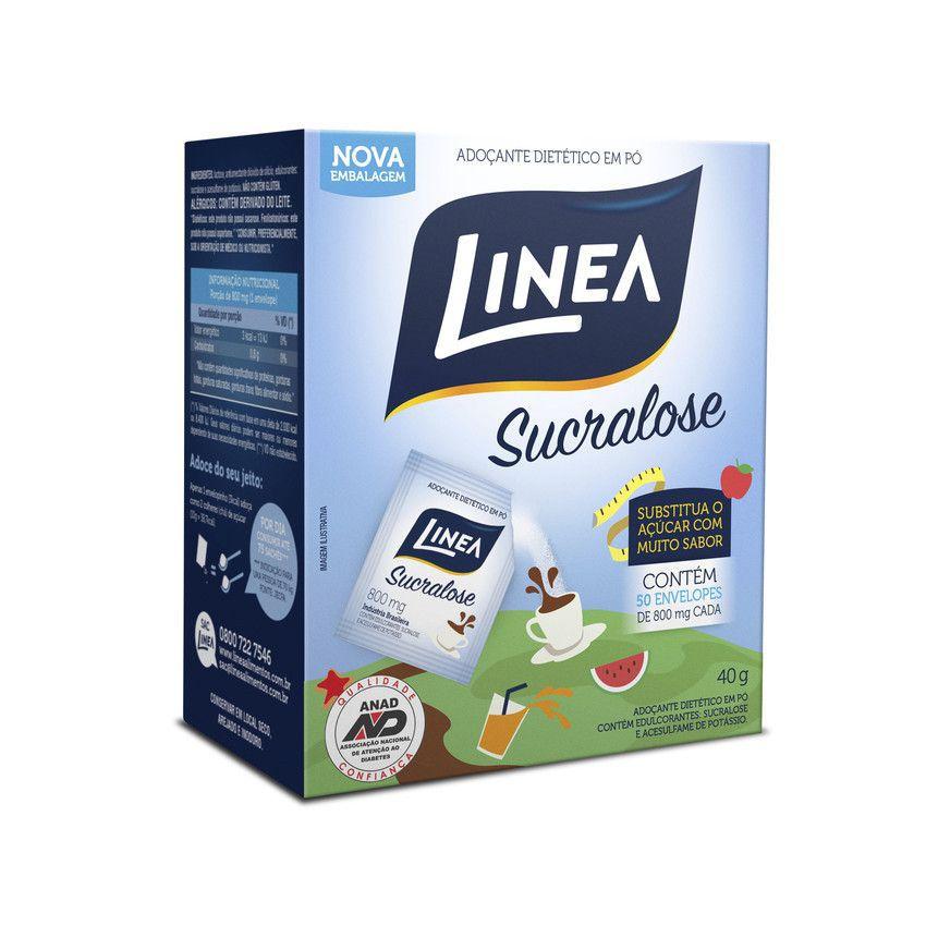 Adoçante Sucralose em Pó  (50 sachês) - Linea