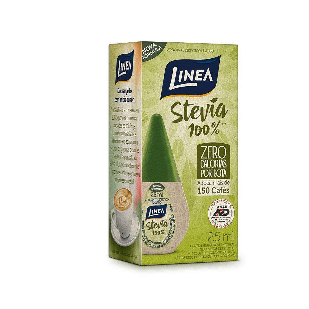 Adoçante Líquido Stevia 100% (25Ml) - Linea