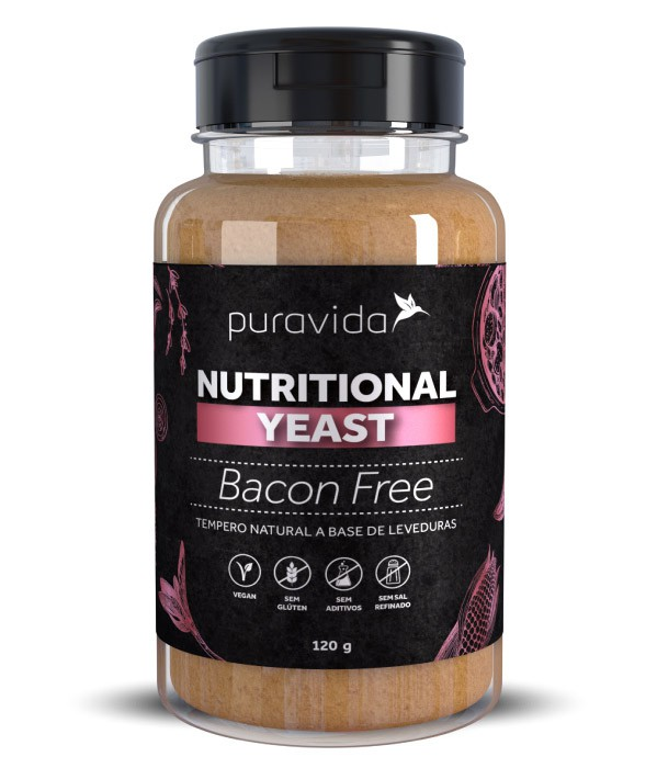 Bacon FREE Tempero Natural a Base de Leveduras (120g) - PuraVida