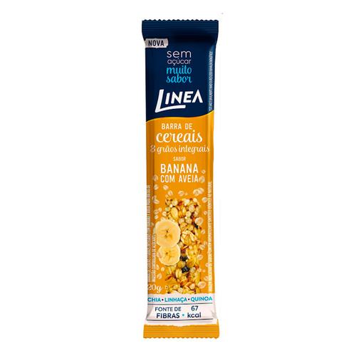 Barra De Cereais 3 Grãos Integrais Sabor Banana Com Aveia (20g) - Linea