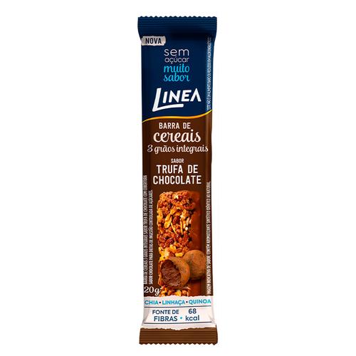 Barra De Cereais 3 Grãos Integrais Sabor Trufa De Chocolate (20g) - Linea