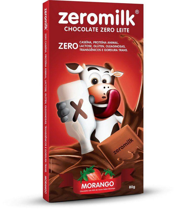 Barra de Chocolate ZEROMILK Morango 80g