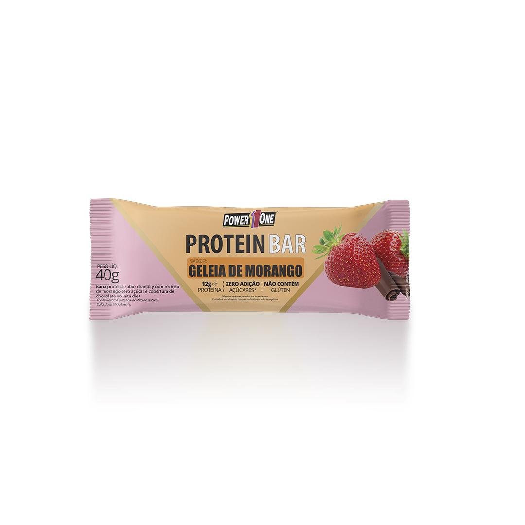 Protein Bar Geleia de Morango Barrinha Barra  (40g) - Power1One