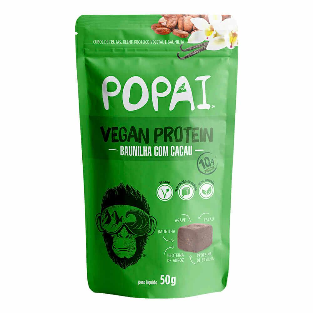 Cubo Proteico Sabor Baunilha Com Cacau (50g) - Popai