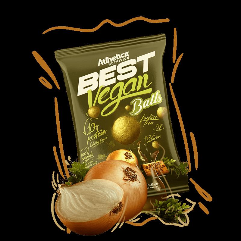 Best Vegan Balls 10g de Proteína Sabor Cebola e Salsa (35g) - Atlhetica Nutrition