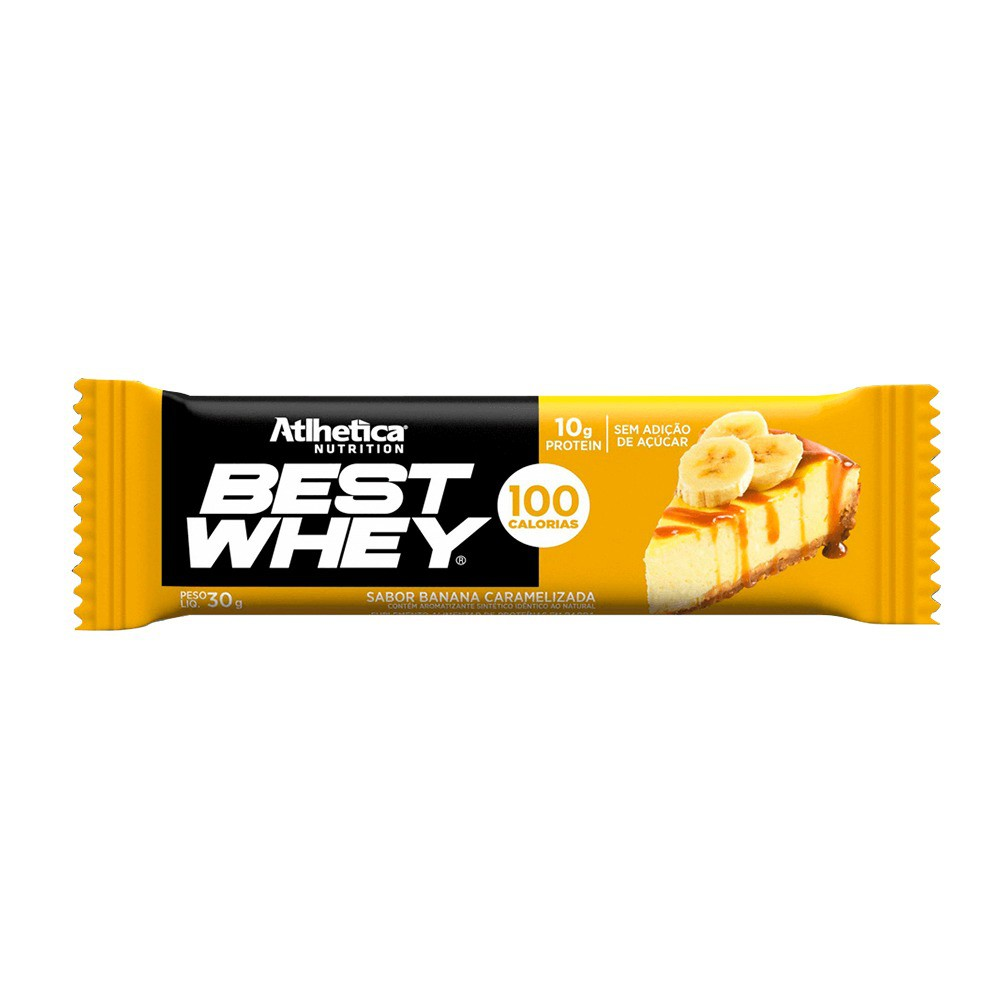 Best Whey Bar Banana Caramelizada Barrinha Barra - Atlhetica Nutrition