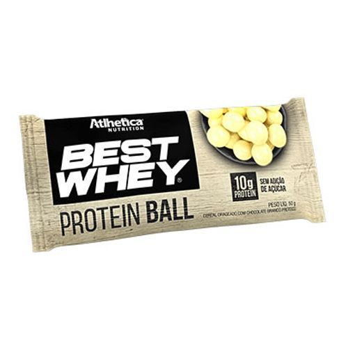 Best Whey Protein Ball Chocolate Branco (50g) - Atlhetica Nutrition