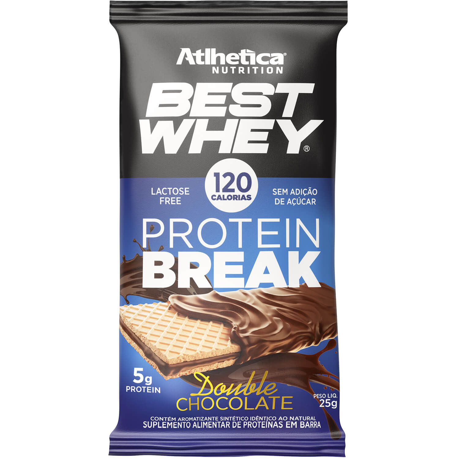 Best Whey Protein Break Sabor Double Chocolate  (25g) - Atlhetica Nutrition