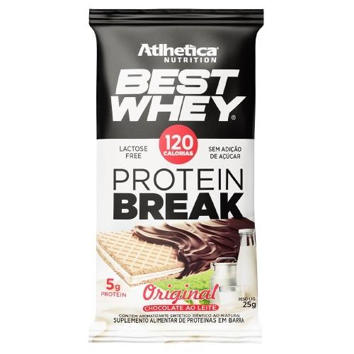 Best Whey Protein Break Sabor Original Chocolate ao Leite (25g) - Atlhetica Nutrition