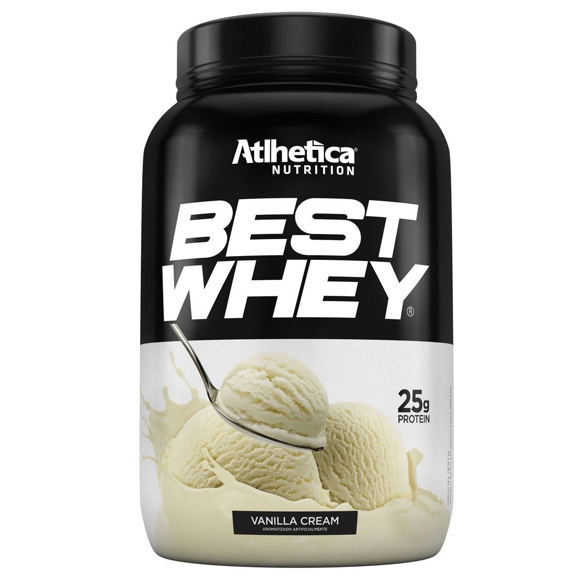 BEST WHEY Sabor Baunilha Cream (900g) - Atlhetica Nutrition