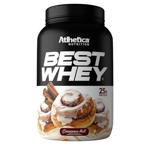 BEST WHEY Sabor Cinnamom Roll Cream (900g) - Atlhetica Nutrition